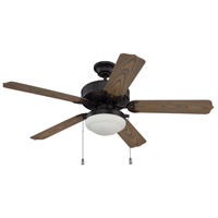 Cove Harbor 52 inch Aged Bronze Brushed with Weathered Oak Blades Ceiling Fan in Matte White
