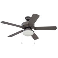 Cove Harbor 52 inch Espresso Ceiling Fan in Matte White