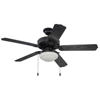 Cove Harbor 52 inch Matte Black Ceiling Fan in Matte White