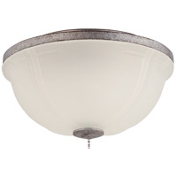 Craftmade WXLLK-AG-LED Elegance LED Aged Bronze Textured Fan Bowl Light Kit in White Frosted Glass, Universal Mount