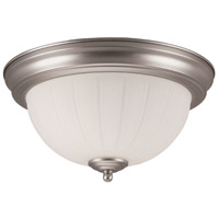 Signature 2 Light 11 inch Brushed Satin Nickel Flush Mount Ceiling Light in Brushed Nickel