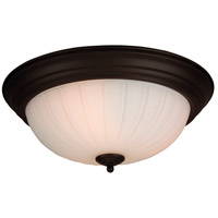 Signature 3 Light 15 inch Brushed Satin Nickel Flush Mount Ceiling Light in Brushed Nickel