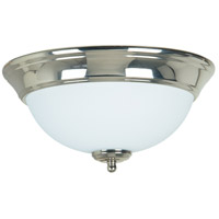 Craftmade X1211-PLN Signature 2 Light 11 inch Polished Nickel Flushmount Ceiling Light in Frost White