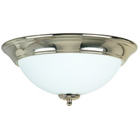 Craftmade X1213-PLN Signature 2 Light 13 inch Polished Nickel Flushmount Ceiling Light in Frost White