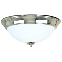 Craftmade X1215-PLN Signature 3 Light 15 inch Polished Nickel Flushmount Ceiling Light in Frost White