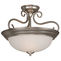 Jeremiah by Craftmade Signature 2 Light Semi-Flush in Brushed Nickel X124-BN
