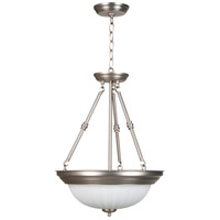 Craftmade X125-BN Signature 3 Light 15 inch Brushed Satin Nickel Inverted Pendant Ceiling Light in Brushed Nickel