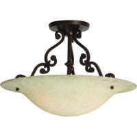 Craftmade X1813-AG Toscana 2 Light 13 inch Aged Bronze Semi-Flushmount Ceiling Light