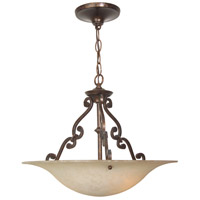 Jeremiah by Craftmade Toscana 3 Light Pendant in Aged Bronze X1916-AG