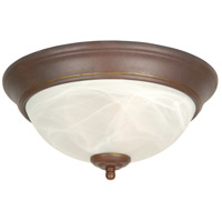 Signature 2 Light 11 inch Aged Bronze Flush Mount Ceiling Light