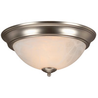 Signature 2 Light 13 inch Brushed Satin Nickel Flush Mount Ceiling Light in Brushed Nickel