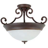 Jeremiah by Craftmade Signature 2 Light Semi-Flush in Aged Bronze X224-AG