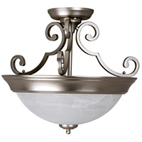 Craftmade X224-BN Signature 2 Light 17 inch Brushed Satin Nickel Semi-Flushmount Ceiling Light in Brushed Nickel