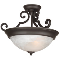 Jeremiah by Craftmade Signature 3 Light Semi-Flush in Oiled Bronze X224-OB-NRG