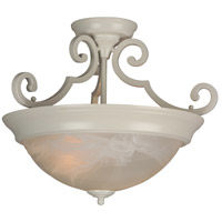 Craftmade X224-W Signature 2 Light 17 inch White Semi-Flushmount Ceiling Light