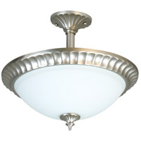 Jeremiah by Craftmade Signature 3 Light Semi-Flush in Brushed Nickel X416-BN