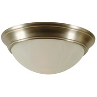 Craftmade X4815-BN Twist-In Glass 3 Light 15 inch Brushed Satin Nickel Flushmount Ceiling Light in Brushed Nickel