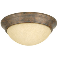 Craftmade X4913-PR Twist-In Glass 2 Light 13 inch Peruvian Bronze Flushmount Ceiling Light