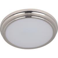Craftmade X6613-BNK-LED X66 Series LED 13 inch Brushed Polished Nickel Flushmount Ceiling Light