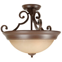 Craftmade X724-AG Signature 2 Light 17 inch Aged Bronze Textured Semi-Flushmount Ceiling Light