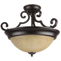 Jeremiah by Craftmade Signature 2 Light Semi-Flush in Oiled Bronze X724-OB