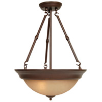 Craftmade X725-AG Signature 3 Light 15 inch Aged Bronze Textured Inverted Pendant Ceiling Light, Convertible to Semi-Flush