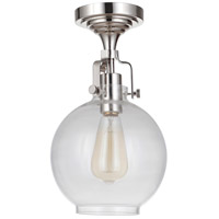 Craftmade X8308-PLN-C State House 1 Light 8 inch Polished Nickel Semi Flushmount Ceiling Light in Clear Glass