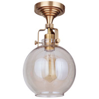 Craftmade X8308-VB-C Gallery State House 1 Light 8 inch Vintage Brass Semi Flush Ceiling Light in Clear Glass