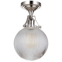 Craftmade X8326-PLN-C State House 1 Light 8 inch Polished Nickel Semi Flushmount Ceiling Light in Clear Glass