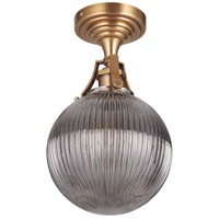 Craftmade X8326-VB Gallery State House 1 Light 8 inch Vintage Brass Semi Flush Ceiling Light in Smoked Clear Glass