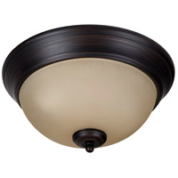 Craftmade XP11ABZ-2A Pro Builder 2 Light 11 inch Aged Bronze Brushed Flushmount Ceiling Light in Amber Frost Glass