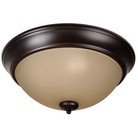 Craftmade XP15OB-3A Pro Builder 3 Light 15 inch Oiled Bronze Flush Mount Ceiling Light in Amber Frost Glass