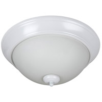 Craftmade XP15W-3W Pro Builder 3 Light 15 inch White Flush Mount Ceiling Light in White Frosted Glass