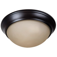 Craftmade XPP11OB-2A Pro Builder Premium 2 Light 11 inch Oiled Bronze Flushmount Ceiling Light in Amber Frost Glass