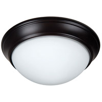 Craftmade XPP11OB-2W Pro Builder Premium 2 Light 11 inch Oiled Bronze Flushmount Ceiling Light in White Frosted Glass