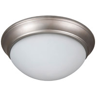 Craftmade XPP13BN-2W Pro Builder Premium 2 Light 13 inch Brushed Satin Nickel Flushmount Ceiling Light in White Frosted Glass
