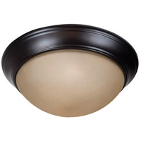 Craftmade XPP13OB-2A Pro Builder Premium 2 Light 13 inch Oiled Bronze Flushmount Ceiling Light in Amber Frost Glass
