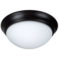 Craftmade XPP13OB-2W Pro Builder Premium 2 Light 13 inch Oiled Bronze Flushmount Ceiling Light in White Frosted Glass