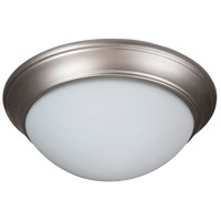 Craftmade XPP15BN-3W Pro Builder Premium 3 Light 15 inch Brushed Satin Nickel Flushmount Ceiling Light in White Frosted Glass