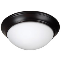 Craftmade XPP15OB-3W Pro Builder Premium 3 Light 15 inch Oiled Bronze Flushmount Ceiling Light in White Frosted Glass