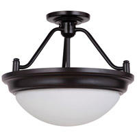 Pro Builder Premium 2 Light 15 inch Oiled Bronze Semi Flush Mount Ceiling Light, Jeremiah,Convertible to Pendant