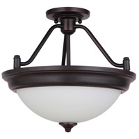 Pro Builder 2 Light 15 inch Oiled Bronze Semi Flush Mount Ceiling Light, Convertible
