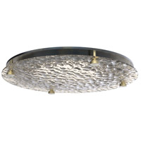 Craftmade XV1511-FSSB-LED Decorative LED 12 inch Fired Steel and Satin Brass Flushmount Ceiling Light
