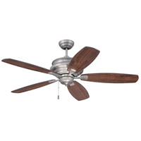 Yorktown 52 inch Antique Nickel with Reversible Walnut and Black Blades Ceiling Fan, Blades Included