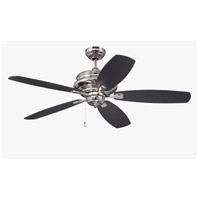 Craftmade YOR52PLN5 Yorktown 52 inch Polished Nickel with Walnut/Flat Black Blades Ceiling Fan