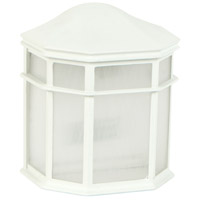 Exteriors by Craftmade Contractors 1 Light Outdoor Wall Mount in Matte White Z103-04