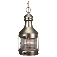 Nautical 1 Light 9 inch Brushed Nickel Outdoor Pendant