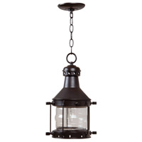 Nautical 1 Light 9 inch Burnished Copper Outdoor Pendant, Large