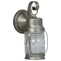 Craftmade Z112-BN Nautical 1 Light 10 inch Brushed Satin Nickel Outdoor Wall Lantern, Small