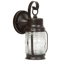 Craftmade Z112-BC Nautical 1 Light 10 inch Burnished Copper Outdoor Wall Lantern, Small